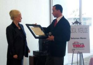 Sharon awarded at Maryvale YMCA, Arizona Federal partnership