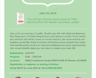 Official book launch of Think and Grow Rich for Women on June 24th!